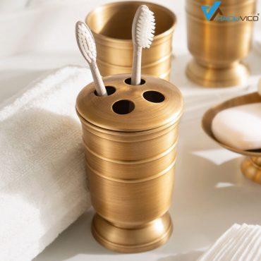 Cốc để bàn chải đánh răng PK008 có thiết kế độc đáo sang trọng đem lại điểm nhấn tuyệt vời cho phòng tắm.