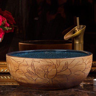 Những mẫu chậu lavabo sứ mỹ thuật đẹp và cuốn hút nhất tại Haduvico cho phòng tắm tân cổ điển sang trọng