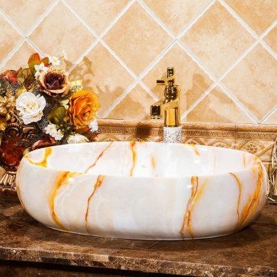 Chậu lavabo sứ mỹ thuật có thiết kế độc đáo sang trọng và đẳng cấp