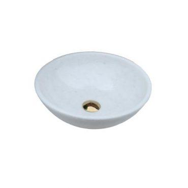 Chậu đá tự nhiên TN006 với thiết kế vẻ ngoài bắt mắt, màu trắng tinh khôi giúp cho sản phẩm trở nên nổi bật và ấn tượng hơn trong không gian phòng tắm.